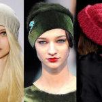 Модные и стильные вязаные шапки своими руками.
