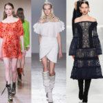 Тенденции в модных платьях 2018
